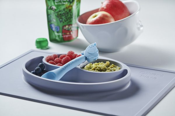 Baby led weaning spoon blue