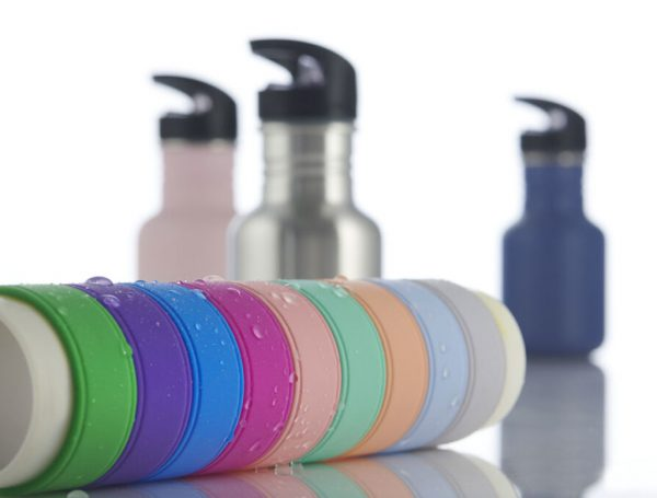 Silicone name bands for bottles