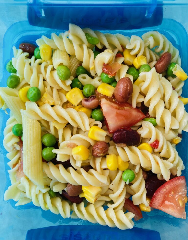 packed lunch ideas for kids - pasta salad