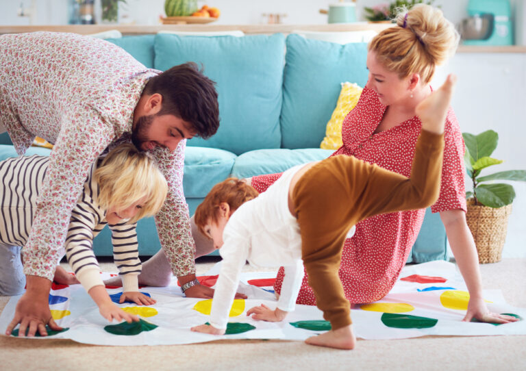 Types of holiday parent - playing twister
