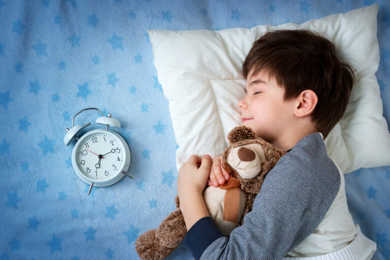 Getting the term time routine - child sleeping