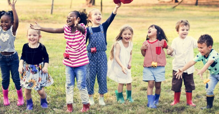 Kids' confidence - group of kids